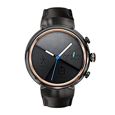 ASUS ZenWatch 3 WI503Q-GL-DB 1.39-inch AMOLED Smart Watch with dark brown leather strap (Certified Refurbished)
