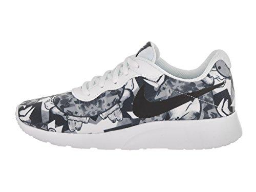 Nike Womens Tanjun Print Løpesko Hvit / Svart ...