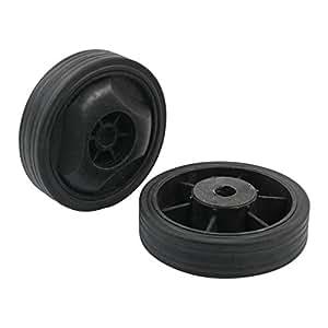 Ruedas 2 piezas de 15 mm diámetro del agujero Negro plástico antideslizante para compresor de aire