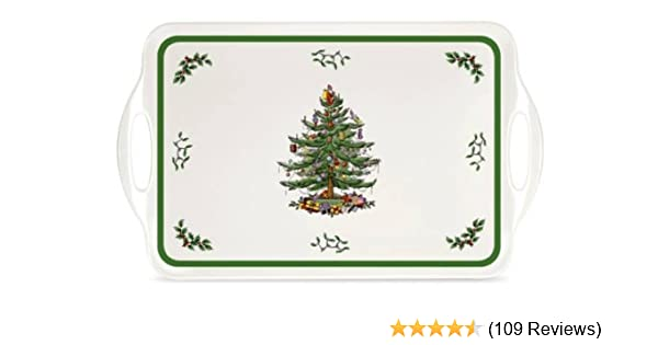 Amazon com: Spode Christmas Tree Melamine Serving Tray with