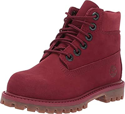 """Timberland Premium 6"""" Waterproof Boot Toddler's Shoes Burgundy tb0a1vgc"""