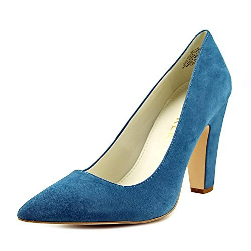 Anne Klein Women's Hollyn Leather Dress Pump, Turquoise Suede, Size 10.0 ()