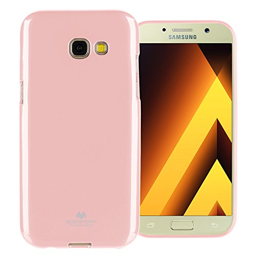 GOOSPERY Marlang Marlang Galaxy A5 2017 Case - Baby Pink, Free Screen Protector [Slim Fit] TPU Case [Flexible] Pearl Jelly [Protection] Bumper Cover for Samsung GalaxyA52017, A52017-JEL/SP-PNK