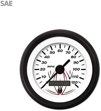 GAR222ZEXHACAC Aurora Instruments Pinstripe White Speedometer Gauge 2990