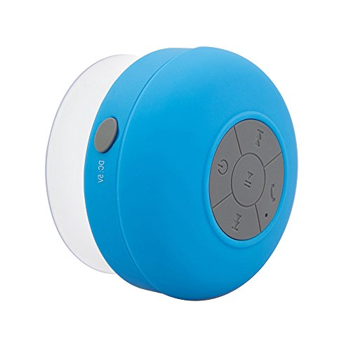 Water Resistant Silicone Bluetooth Speaker (Blue) - 8