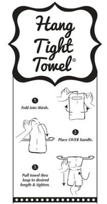 Twisted Wares Kitchen Towel, Funny With Hang Tight Design by I LOVE JESUS.BUT I DRINK A LITTLE Made With A Super Absorbent, Quick Dry, Lint Free 100% Cotton Flour Sack by Twisted Wares (Image #4)