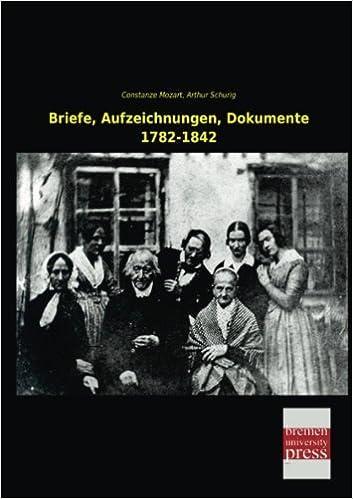 Book Briefe, Aufzeichnungen, Dokumente 1782-1842