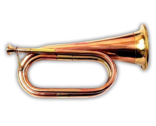 AnNafi Solid Copper Bugle US Military Cavalry Horn 4x11.5 inches by AnNafi®