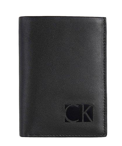 Calvin Klein CK Logo Men's Trifold Leather Wallet