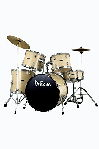 complete-5-piece-pro-maple-full-size-drum-set-kit-with-drum-sticks-drum-throne-tuning-key-much-more-