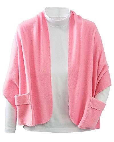 - Care Apparel Industries Polar Fleece Pocket Shawl, Pink