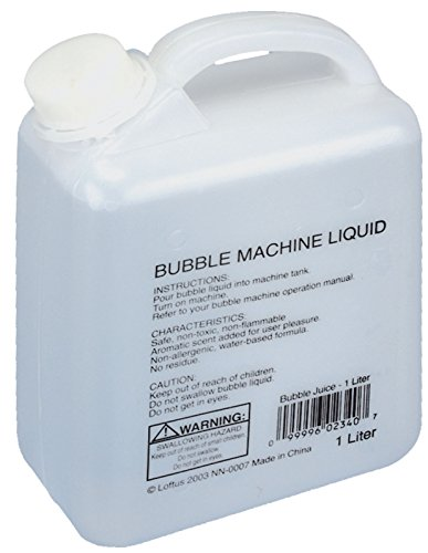 Loftus International Bubble Juice Refill Machine Liquid, Clear, 1L