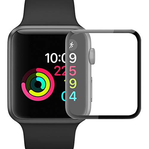 Screen Protector YJan 42mm iWatch Screen Protector High Definition Bubble-Free Easy Installation Tempered Glass Film Accessories for Apple Watch Series 1/Series 2/Series 3
