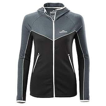 Kathmandu Flinders Merino Wool Blend Warm Hiking Skiing Womens Hooded Jacket Women's Black/Granite 10