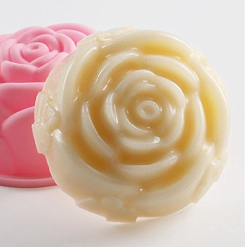 Chawoorim Rose Silicone Soap Molds - DIY Handcraft 8 Holes Soap Making Silicone Mold