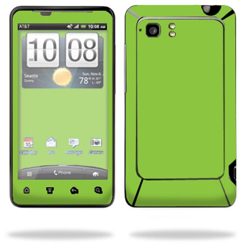 Mightyskins Protective Vinyl Skin Decal Cover for HTC Vivid 4G PH39100 B AT&T Cell Phone wrap sticker skins Solid Green (Ph39100 Htc Cover)