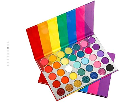 MS GLAMOUR 35 Colors Rainbow Palette a Cruelty Free Cosmetics Travel-Friendly Ultimate Eye-catching Palette Eye shadow rainbow palette makeup rainbow pallet eyeshadow matte