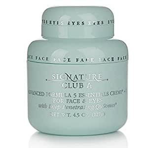 Signature Club A by Adrienne 5 Essentials Creme + 1 For Face and Eyes with QuSomes