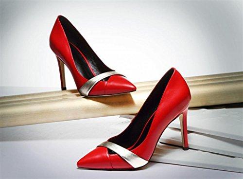 Hochzeit mit Sexy Mode Schuhe High Kitzen Pumps Kleid Frauen Heel Court xqXgHERt