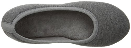 Indoor Women's All with Ballerina Jillian for Dark Slipper Jersey Foam Charcoal Comfort Around Isotoner Knit Memory Heathered pwHRxqdpO