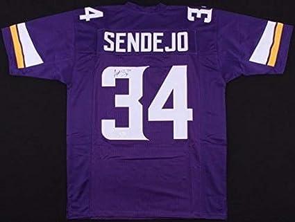 Andrew Sendejo Autographed Signed Vikings Purple Jersey JSA Witness - Size  XL 2984eed12
