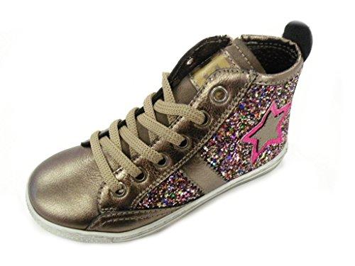 Ciao Bimbi - Zapatillas de Piel para niña bronce