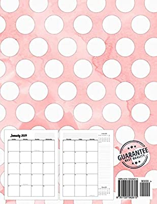 2019-2020 Monthly Planner: Two Year - Monthly Calendar ...