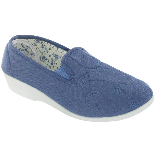 Touch 8 Shoes 5 Womens Lined 3 Verde Blue 6 Fastened Size Mirak 4 Textile 7 RSOaxxn