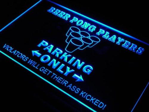 Pong Parking Only Beer Bar Neon Light Sign ()
