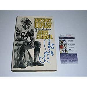 1968 Packers Jerry Kramer Autographed Signed Instant Replay Book Jsa Coa Auto Green Bay Hof