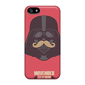 New Vader Moustache Tpu Case Cover, Anti-scratch StellasKeller Phone Case For Iphone 5/5s