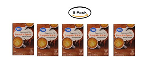 PACK OF 5 - Great Value Pumpkin Spice Cappuccino Mix Single Serve Cups, 18 Count