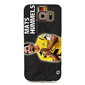 Dortmund FC Phone Case Graceful Football Club Player Mats Hummels 3D Plastic Cell Phone Case for Samsung Galaxy S6 Edge