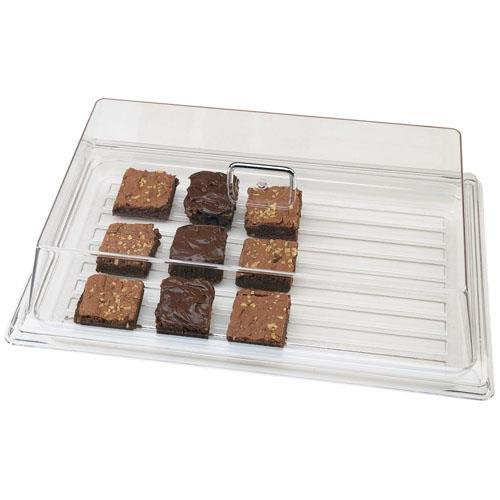 Platter Cover - Cambro RD1220CW135 Camwear Display Rectangular Cover, Clear, 12