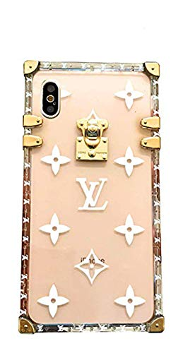 (iPhone Clear Case, Max X/Xs Xr 6 7 8PLUS,Trunk Bag Elegant Luxury Clear Designer Graphic Case for Apple iPhone (XsMax))