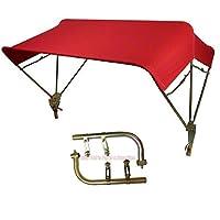 "Case-IH & MF Red Complete 3 Bow 40"" Tractor Buggy Top Umbrella w/Fender Mounts Farmer Bob"