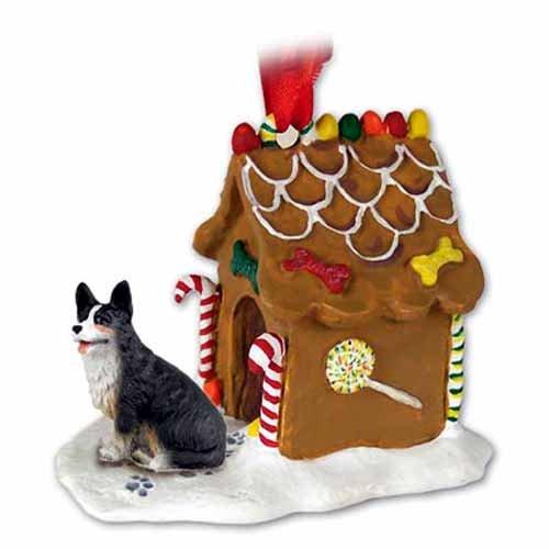 (Eyedeal Figurines Welsh Corgi Dog Cardigan New Resin Gingerbread House Christmas Ornament 51B)