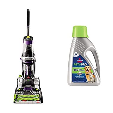 Bissell ProHeat 2X Revolution Pet Pro Full-Size Carpet Cleaner, 1986 AND BISSELL Professional Pet Urine Eliminator + Oxy Carpet Cleaning Formula, 48 oz, 1990