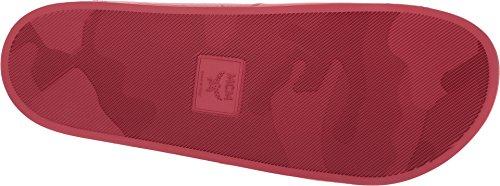 Mcm Mens Logo Sandalo Scorrevole Rosso Rubino