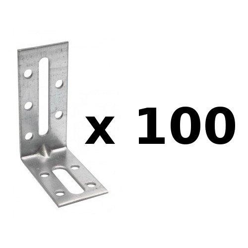 Simpson Strong-Tie - É querre de fixation avec renfort - 30/70/55/2 mm - qté . 100 piè ces, ref. EFIXR753