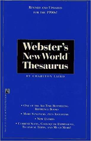 Book Webster's New World Thesaurus