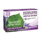 Seventh Generation Fabric Softener Sheets, Blue Eucalyptus & Lavender, 80 ct - Pack of 4