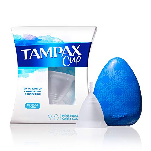 Tampax Regular Flow Menstrual Cup Up to 12 Hours of Comfort-fit Protection with Liners