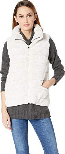 - Dylan by True Grit Women's Reversible Fur Love Vest Winter White Large