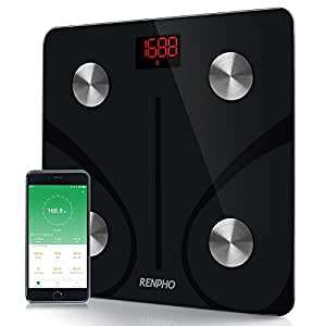 RENPHO Bluetooth Body Fat Scale - FDA Approved - Smart BMI Scale Digital Bathroom Weight Scale, Body Composition Analyzer with Smartphone App, 396 lbs