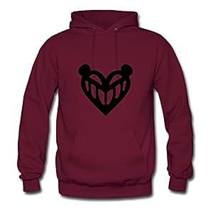 C Control Skull Heart Genevphilli Sweatshirts Personalized Women Cool Burgundy