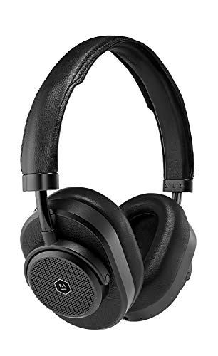 Master & Dynamic MW65 Active Noise-Cancelling Wireless Headphones – Bluetooth Over-Ear Headphones with Mic – Luxury Black Metal/Black Leather