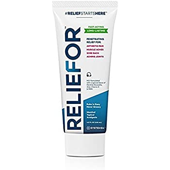 Reliefor *4 OZ*- Pain Relief Cream ,Best Pain Relief on the market ,Quick Absorption, Long-lasting RELIEF for chronic Aches,Arthritis Pain, Knee pain, shoulder pain & Back Pain.