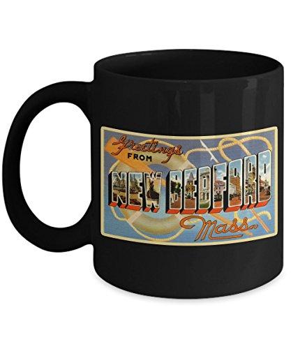 Greetings from New Bedford Mass, Vintage Large Letter Postcard Design: Ceramic Coffee Mug ()