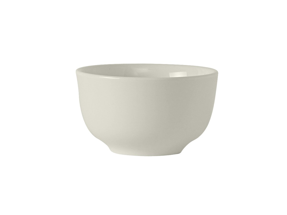 Tuxton AMU-040 Vitrified China Modena Sugar/Bouillon Cup, 8 oz, 3-7/8'', Pearl White (Pack of 36), Oven-Microwave-Pressure Cooker Safe; Freezer to Oven Safe